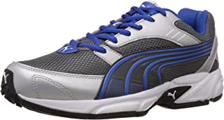 Puma Men's Pluto DP Silver and Blue Running Shoes - 7 UK/India (40.5 EU)