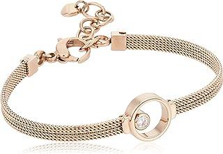 Skagen Women's Rose Gold Crystal Circle Bracelet, SKJ0851791