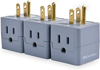 Cable Matters 3-Pack Grounded Power Cube 3 Outlet Adapter