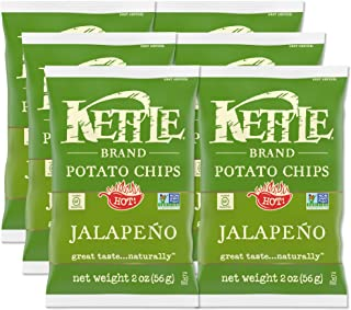 Kettle Brand Potato Chips, Jalapeno, 2 Oz (Pack of 6)