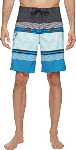 Bonsai Stripe Stretch Boardshorts 20""