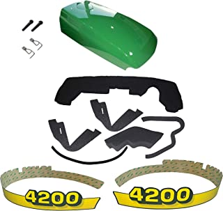New Kumar Bros USA Upper Hood/Fuel Door Kit/Mounting Seal Kit/LH & RH Decals fits John Deere 4200