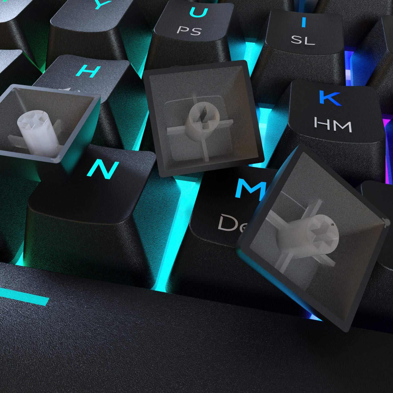 Dierya DK61 Pro Bluetooth 5.1 Mechanical Gaming Keyboard 60% Wireless/Wired PBT Keycap RGB Backlit Compact 61 Keys Computer Mini Keyboard with Full Keys Programmable (Gateron Optical Blue Switch)