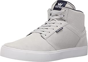 Supra Men's Yorek Hi Grey Violet/White Athletic Shoe