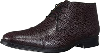 Driver Club USA Men's Geuine Leather Boot with Captoe Detail Ankle