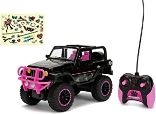Jada Toys Girlmazing Jeep Wrangler RC Car, 1: 16 Scale Remote Control, Black & Camo