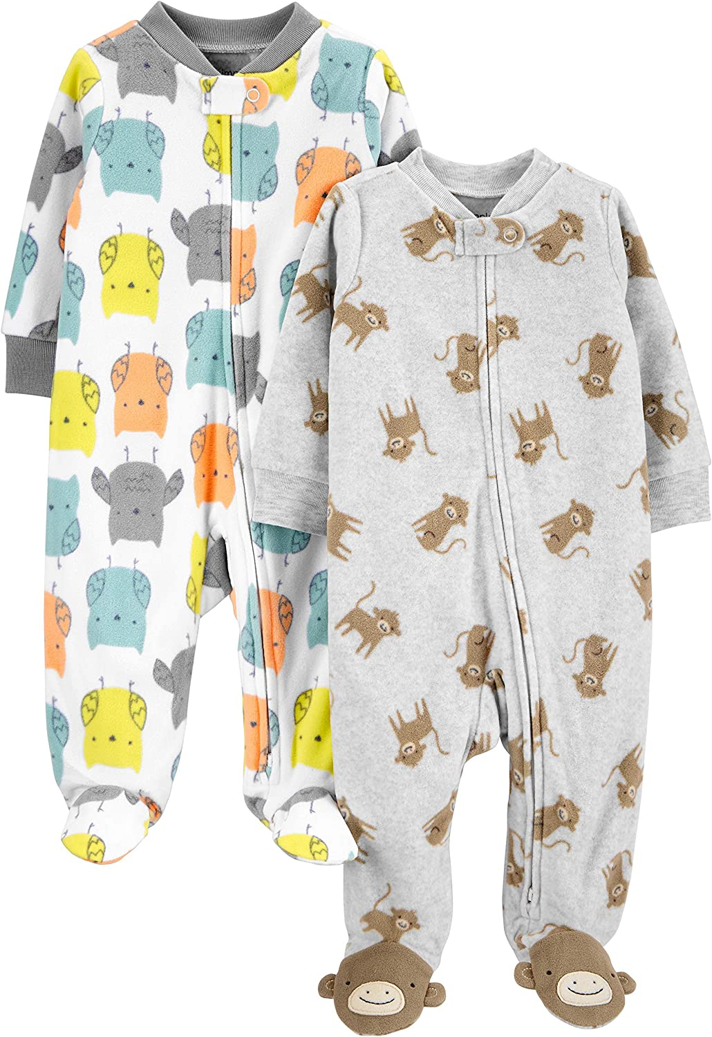 Baby 2-pack Fleece Footed Sleep and Play Simple Joys by Carters Unisex