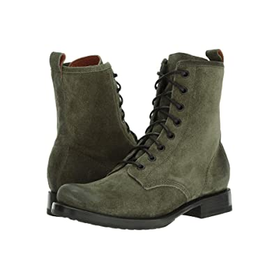 Frye Veronica Combat (Forest Soft Oiled Suede) Women