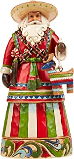 "Enesco Jim Shore Heartwood Creek Mexican Santa Stone Resin Figurine, 7.25"""
