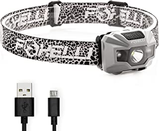 Foxelli USB Rechargeable Headlamp Flashlight – 180 Lumen, up to 40 Hours of..
