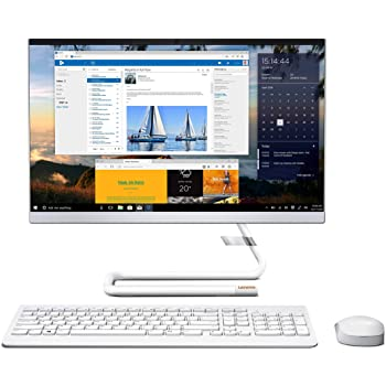 Lenovo Ideacentre A340 21.5-inch Full HD IPS All-in-One Desktop (10th Gen Intel Core i3/8GB/1TB HDD/Windows 10/MS Office 2019/Intel UHD Graphics), Foggy White (F0EB00CRIN)