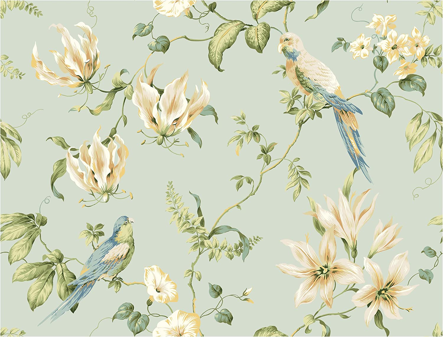 York Wallcoverings Casabella Tropical Floral Indefinitely Removable unisex Wallpaper
