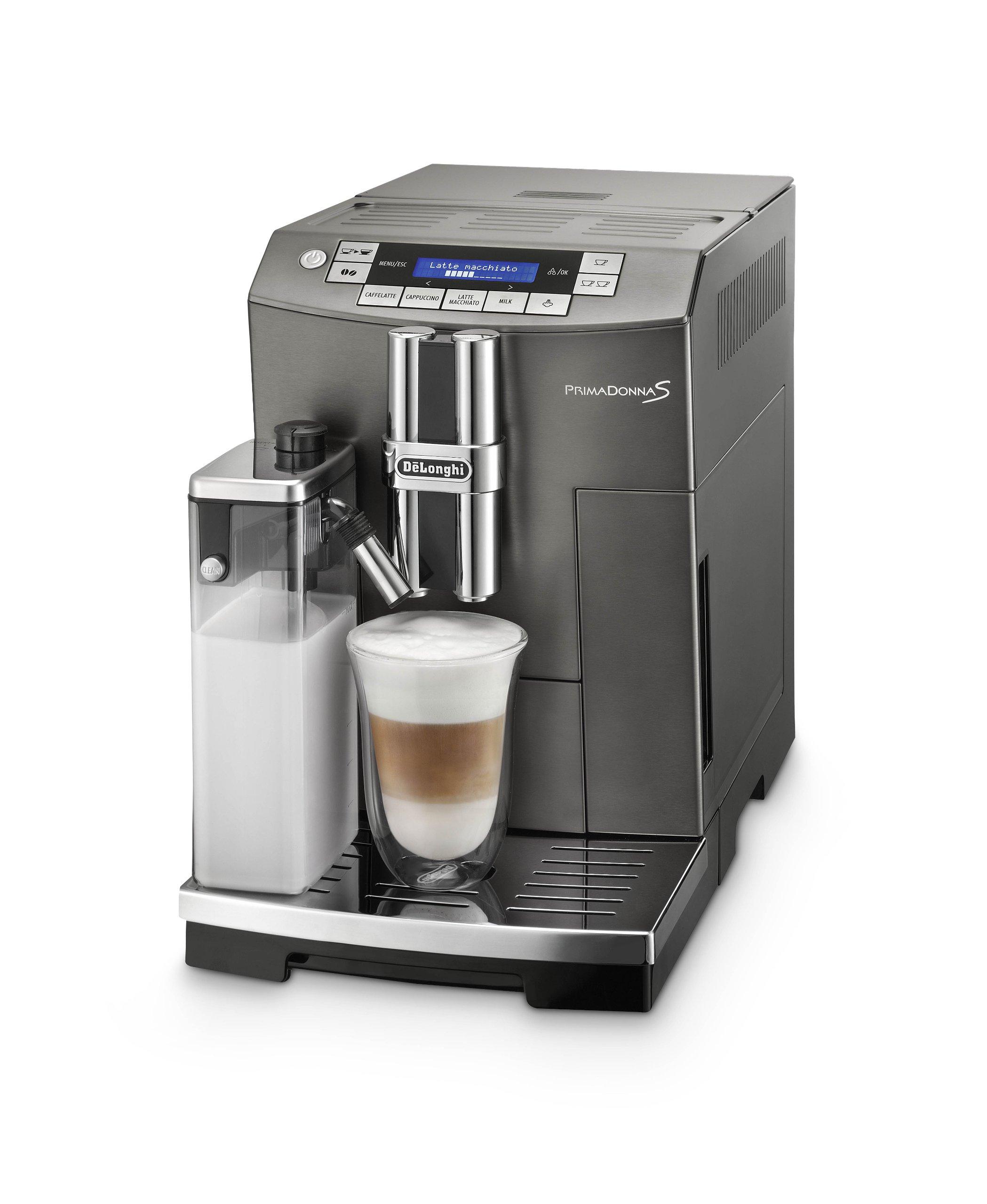 DeLonghi PrimaDonna S Independiente Máquina espresso 2 L Totalmente automática - Cafetera (Independiente, Máquina espresso, 2 L, Molinillo integrado, 1450 W, Grafito): Amazon.es: Hogar