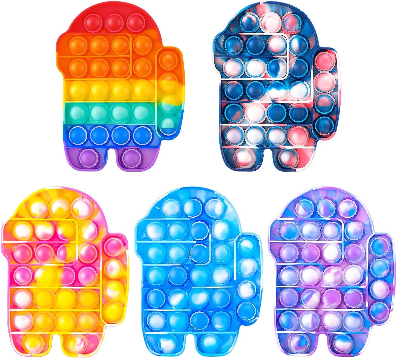 5 Packs Fidget Sensory Toys, Push Bubble Sensory Fidget Toys, Si