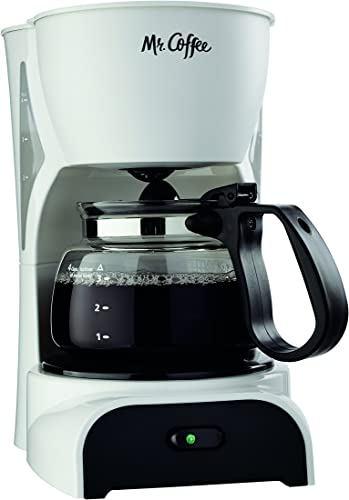 high quality Mr. Coffee 4-Cup Coffee outlet online sale Maker, sale White - DR4-RB outlet sale