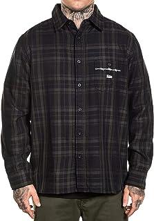 Sullen Men's Bars Flannel Long Sleeve Buttondown Shirt