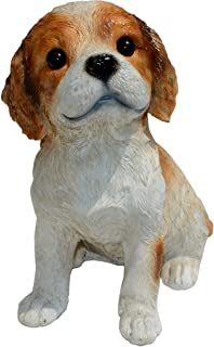 Cavalier King Charles Spaniel Puppy S by Michael Carr Designs - Outdoor Puppy Dog Figurine for Gardens, patios and lawns (...