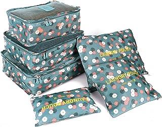 6 قطعة / مجموعة جودة عالية أكسفورد شبكة القماش حقيبة سفر منظم الأمتعة التعبئة مكعب المنظم حقائب السفر