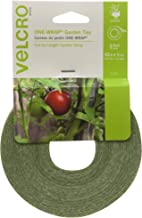 VELCRO Brand 91384 ONE-WRAP Supports for Effective Growing | Strong Gardening Grips are Reusable and Adjustable Gentle Plant Ties, 45 ft x 1/2 in in, Green