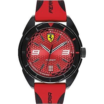Ferrari Forza, Quartz Plastic and Silicone Strap Casual Watch, Red with Black Detail, Men, 830517
