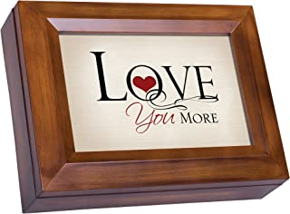Cottage Garden Love You More Wood Finish Jewelry Music Box Plays Tune All You Need is Love