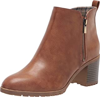LifeStride Women's Michelle Ankle Boot, Whiskey, 9