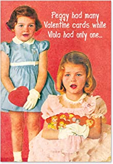 NobleWorks - Peggy Is a Wh-re - Classic Adult Valentines Day Greeting Card - Retro Women's Vday Card with Envelope 2182
