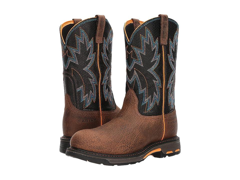 Ariat Workhog Raptor Composite Toe (Earth/Black Snake Print) Cowboy Boots