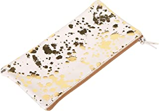 Clairefontaine 400062C Schlampermäppchen flach Cosmicuir glatt, 22x11 cm 1 Stück bedruckt gold