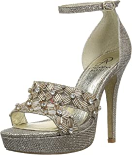 Women's Marietta Heeled Sandal, Platino, 7 M US