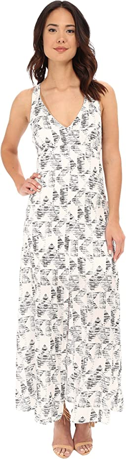 Zana Shards Printed Hammered Crepe Maxi