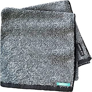 FaceSoft Towel Company: Charcoal-Detox BATH Towels - Charcoal Infused Cotton Active Towel - Hypo-Allergenic - Perfect Yoga Towel - Anti-Bacterial - Absolutely No Synthetic Microfibers