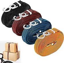 JIANGHUI Bungee Cords Double End Heavy Duty Verstelbare Elastische Lange Platte Bagage Touw met Metalen Haken voor Fietsen...