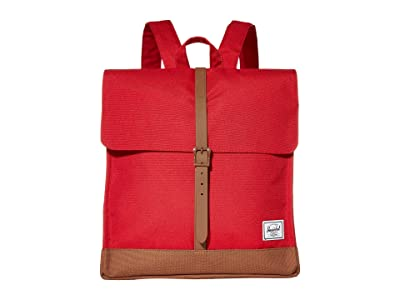 Herschel Supply Co. City Mid-Volume (Red/Saddle Brown) Backpack Bags