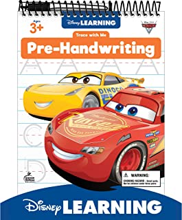 Disney Learning Cars 3 Trace with Me: Pre-Handwriting Dry-Erase Tablet - Preschool Writing Practice for Uppercase and Lowe...