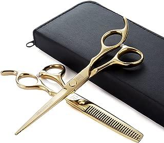 Professional Hair Cutting Shears Barber Razor Hair Scissors 6 Inch Hairdressing Scissors Gold 440c Stainlees Steel