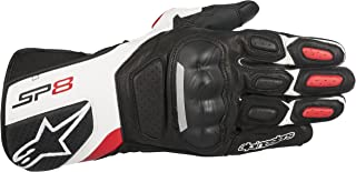 Alpinestars SP-8 v2 Leather Gloves (Large) (Black/White/RED)