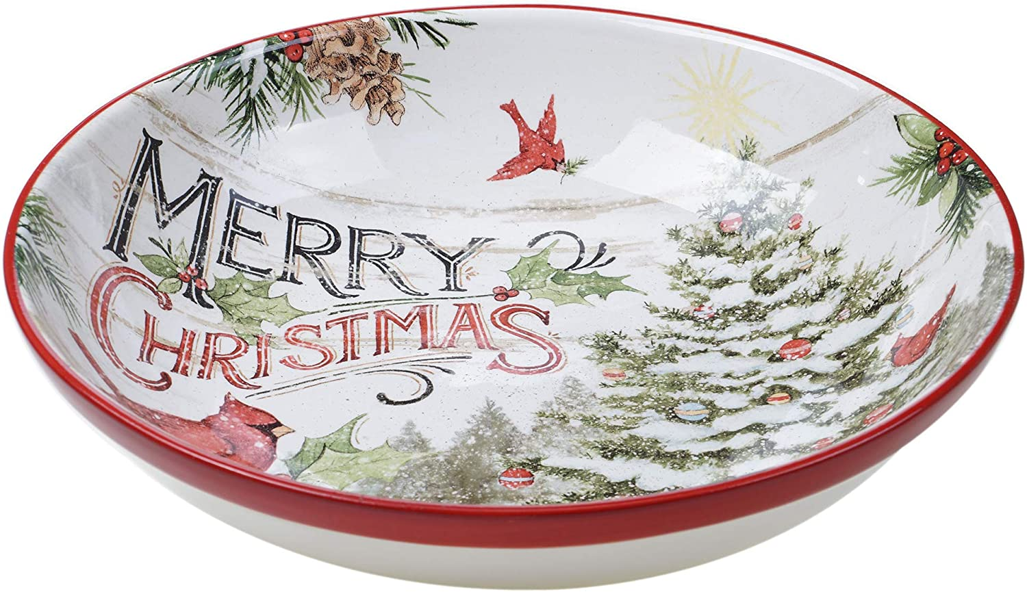 Certified International Evergreen Christmas Serving Sale Clearance SALE! Limited time! special price Multic Bowl