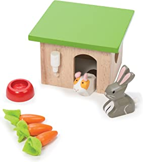 Le Toy Van Bunny & Guinea Pet Set Premium Wooden Toys for Kids Ages 3 Years & Up