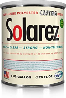 SOLAREZ UV Cure Clear Casting Resin ~ for DIY Jewelry, Hobby, Craft Decoration Making - Crystal Clear Solar Cure Molding and Casting Resin That Cures in The Sun or w/UV Lite