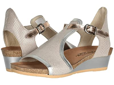Naot Fiona (Beige Lizard Leather/Silver Luster Leather/Rose Gold Leather) Women