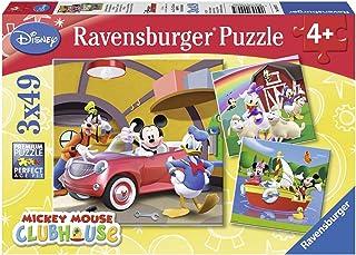 Ravensburger 92475 Puzzel Disney Mickey Mouse - Drie Puzzels - 49 Stukjes - Kinderpuzzel