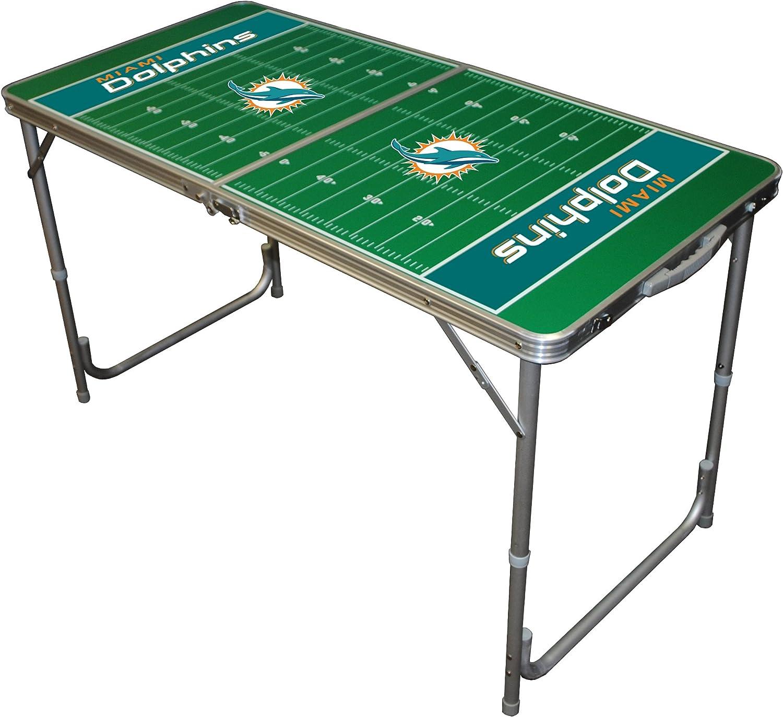 Wild Sports TTABLENFL116 NFL Miami Dolphins 2x4 Tailgate Table