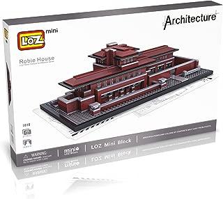 LOZ Architecture 1018 Box Set Robie House Chicago US 2115pcs Brick Building Block Toy