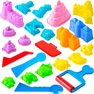 USA Toyz Sand Molds – 23pk Mini Sandbox Toys, Sand Castle Building Kit Compatible..