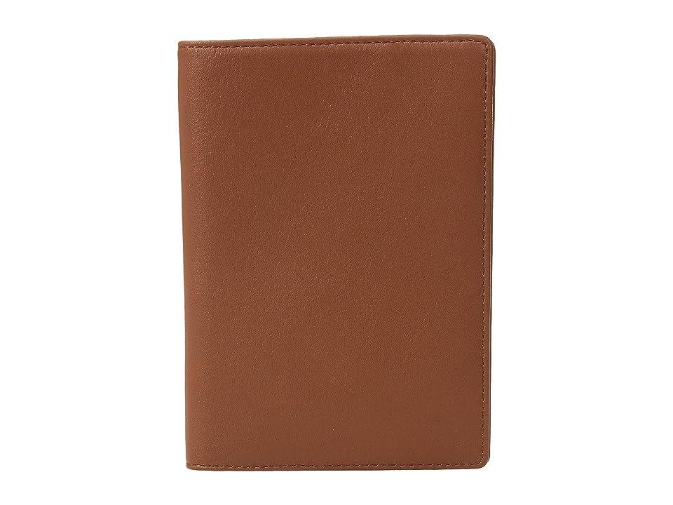 WANT Les Essentiels Pearson Passport Cover (Cognac/Black) Wallet