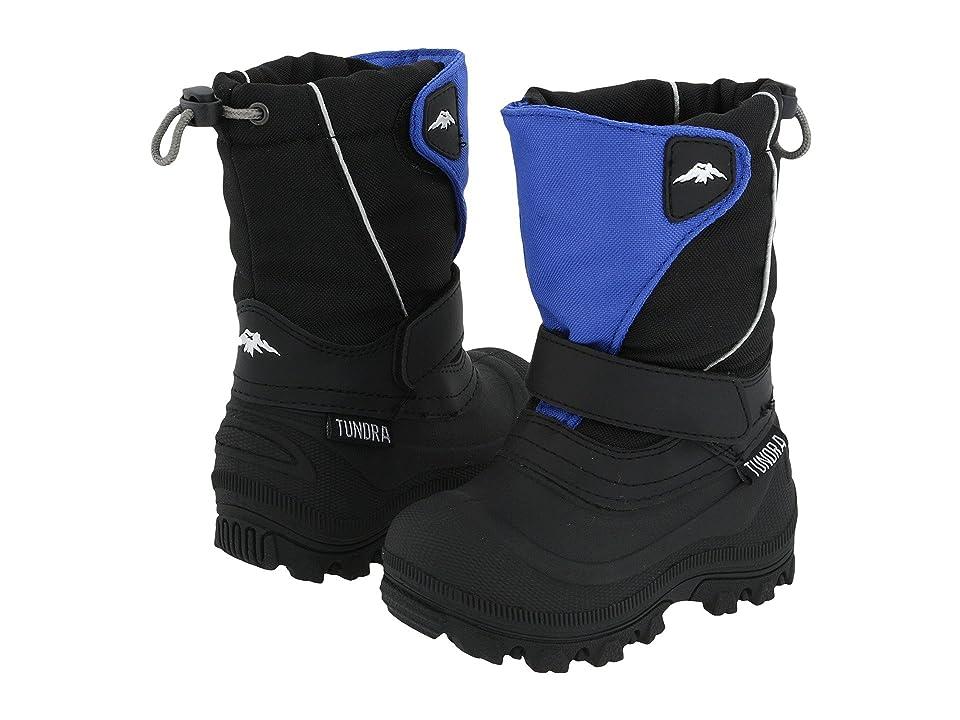 Tundra Boots Kids Quebec Wide (Toddler/Little Kid/Big Kid) (Black/Royal) Boys Shoes