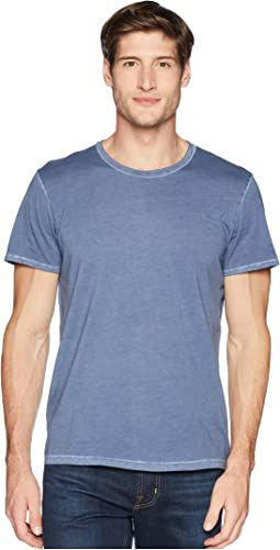 Short Sleeve Stone Washed Pima Crew