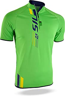 SILVINI Men s Turano MTB Jersey with Short Front Zipper Rear Pocket and  Loop for Glasses 05cc13ee8