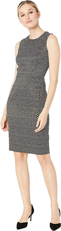 Printed Compression Sheath Dress